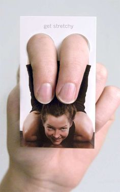 'Yoga One' Business Cards Turn Your Fingers into Thighs #businesscards #design trendhunter.com
