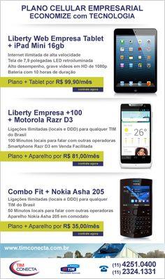 Campanha de e-mail marketing para cliente Tim Conecta, maior representante Tim Business da grande São Paulo. Nesta peça em destaque para o combo iPad Mini + Plano Tim Empresa. http://www.timconecta.com.br http://www.miolodigital.com.br