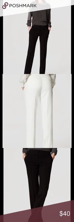 "Ann Taylor Loft Marisa straight leg pants 👖 Ann Taylor Loft Marisa straight leg pants 👖. NWT. 71% polyester,28% rayon and 1% spandex. Inseam 32"" Ann Taylor Pants"