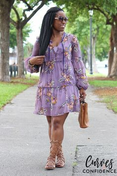 curves-and-confidence-target-xhilaration-floral-tiered-dress-lilac