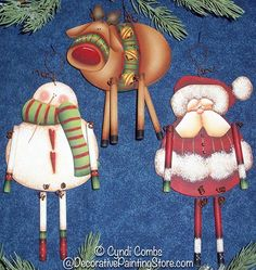 tole painting christmas | The Decorative Painting Store: Christmas Danglers Ornaments Pattern ...