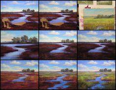 The making of a Marsh Painting in pastel  ©Karen Margulis