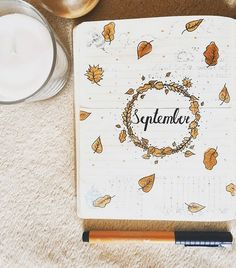 24 September Bullet Journal Layouts & Themes You'll LOVE - - Ideas for your September bullet journal including the best themes, cover page, habit trackers, and more pretty September bujo page ideas. Bullet Journal September Cover, Bullet Journal Cover Ideas, Bullet Journal 2020, Bullet Journal Notebook, Bullet Journal Aesthetic, Bullet Journal Layout, Journal Covers, Bullet Journal Inspiration, Bullet Journal Months