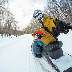 #GoProFamily member, @hwd.w from @GoProJP getting ready to fire up the #snowmobiles into a beautiful sunset. • • • Check out our story for some BTS of our GoPro Family members trip to Japan this past week. Narrated by the awesome @RoryKramer! #GoPro #HERO5 #Japan #🇯🇵 #amazing #adventure #L4L #travel #F4F