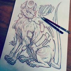Sketch from last night. #sphynxcat #cat #tattoo #art #drawing #illustration…