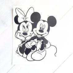 DIY Mickey & Minnie in Love Vinyl Decal by VinylMeeThis on Etsy