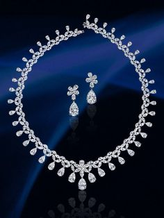 Diamond necklace set from the Dehres Collection