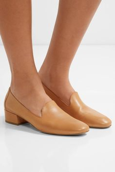 Mansur Gavriel - Venetian Leather Loafers - Camel - IT36.5