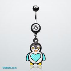 Penguin belly ring.