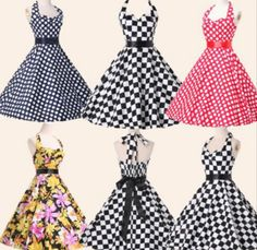 Vintage Retro Style Peplum Swing Pinup Polka EVENING Dress Monday New Rockabilly  Vintage 50 Swing Pinup Party Cocktail Evening Formal Dress a649d8d1655