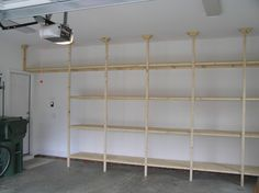 built-in garage shelves