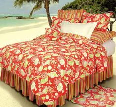 Image detail for -. Seashell & Beach Bedding, Quilts, Duvets and Comforter Sets Tropical Bedding, Coastal Bedding, Tropical Decor, Toile Bedding, Fluffy Bedding, Girl Bedding, Chic Bedding, Luxury Bedding, Beach Bedding Sets