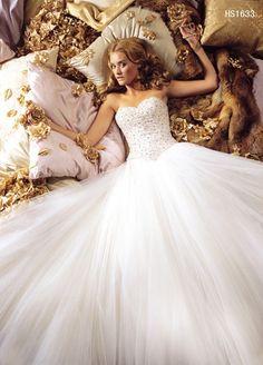 SWEETHEART Princess Wedding Dress Prom Gown #wedding #dress www.loveitsomuch.com