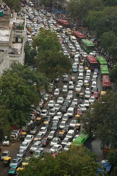 Yikes!! A road is packed in heavy traffics following power outage and rains in the central part of New Delhi, India, Tuesday, July 31, 2012. India's energy crisis spreadover half the country Tuesday when both its eastern and northern electricity gridscollapsed, leaving 600 million people without power in one of the world's biggest-ever blackouts. Traffic lights went out across New Delhi. (AP Photo/Rajesh Kumar Singh)  RAJESH KUMAR SINGH - AP