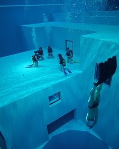 At a depth of over 100 ft deep, the pool at the Nemo 33 recreational diving center in Belgium is the worlds deepest recreational pool.