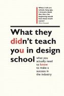 Phil Cleaver's witty book, What They Didn't Teach You in Design School weighs in on what school doesn't manage to teach you about design and career.