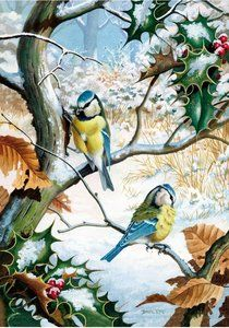 Blue Tits in Winter Piece Wooden Puzzle by Wentworth) Wooden Puzzles, Jigsaw Puzzles, Blue Tit, Puzzle Art, Games For Kids, Bird, Winter, Animals, Projects