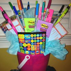 Birthday Basket I Made For My Sister Who Is A Teacher Repin By