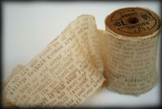 Rubber Stamped Crepe Paper via Vicki Chrisman. Must try this!