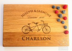 Personalized Cutting Board Tandem bike Wedding gift Bridal Shower Gift Laser Engraved Wedding Present Gift for couple Anniversary Gift Cutting board Personalized gift Personalized board Gift for couple Wedding gift Tandem bike Bridal Shower Gift Wedding Present Anniversary Gift Custom engraved Wedding gift ideas Housewarming gift Custom wedding gift 29.90 USD #goriani
