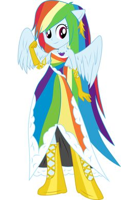 Rainbow Dash in Gala Dress (Vectored) by RuinedOmega on DeviantArt