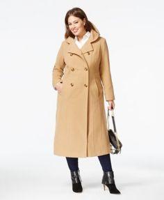 Anne Klein Plus Size Hooded Walker Coat