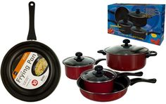 Steel Non-Stick Frying Pan Bundle With Stainless Steel Cookware Set *** Read more  at the image link.