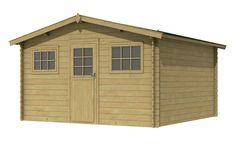 Tuinhuisje / blokhut  model Tgris 280 met afmetingen 280 x 280 cm van Woodvision Shed, Outdoor Structures, Model, Scale Model, Pattern, Models, Modeling, Sheds