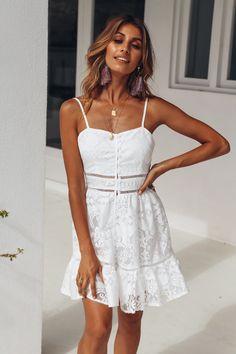 Screen Queen Dress White