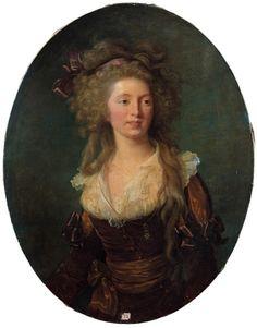 Élisabeth Vigée Le Brun (1755-1842), Portrait de la comtesse de Béon, sur sa toile ovale d'origine, 92 x 72 cm. Frais compris : 689 700 €. Clermont-Ferrand, samedi 5 décembre. Anaf - Jalenques - Martinon - Vassy SVV. Cabinet Turquin.