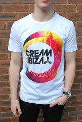 Your Own Clothing (yo effect) Cream Ibiza Logo T Shirt | ScaryCanary
