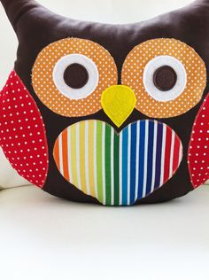 Owl Sewing Pattern Owl Pillow Pattern PDF by GandGPatterns