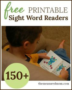 These free printable sight word books are great for kids in preschool and kindergarten! The bright pictures make them fun for kids, and they're great for teaching sight words, concepts of print, and more! #sightwords #teachingreading #preschool #kindergarten