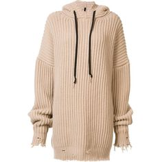 Unravel Project ribbed oversized hoodie found on Polyvore featuring tops, hoodies, dresses, sweaters, pink hoodies, pink hoodie, hoodie top, oversized hoodie and oversized tops