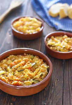Pisto de calabacín con arroz
