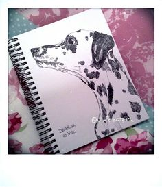 Dalmation - Day 4 of 75 day sketch challenge in ink