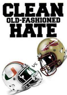 Great rivalry...Go Noles!!