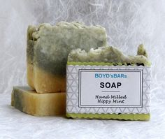 Hand Milled Hippy Mint Soap Bar   Peppermint by BOYDsBARs on Etsy
