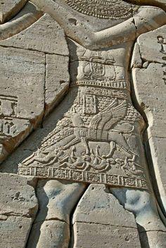 Hieroglyphics at Dandera temple, Ancient Egypt Pharaoh.