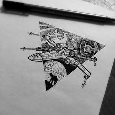 Resultado de imagen de star wars tattoo pequeño