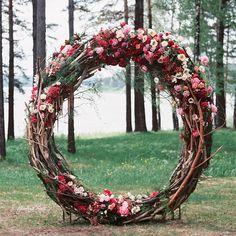 Floral Circular Wedding Ceremony, Giant Wreath. @art_petrov #contax645