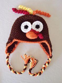 Crochet Turkey Earflap Beanie Hat - Etsy $43.00