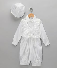 Take a look at this Lida White Satin Vest Set - Infant & Toddler by All in White: Christening & Communion on #zulily today!
