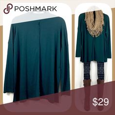 Green Tunic Top 🍂🍁BOUTIQUE🍁🍂 ✅Lightweight, flowy, and stretchy 😊  ✅Comes in 3 sizes: S, M, and L ✅I stock other items (like scarves, leggings, and ponchos) that complement each other --- go take a look!  ✅Price firm, BUT... ✅Want 15% off AND a free gift? Bundle 3+ items!  ✅Check out my other tunic colors! 🍁🍂💥Happy Poshing!💥🍂🍁 Tops Tunics