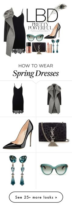 """""""Lbd♡"""" by lalabydesign on Polyvore featuring Miss Selfridge, River Island, Yves Saint Laurent, Dolce&Gabbana, HAY and Charlotte Tilbury"""
