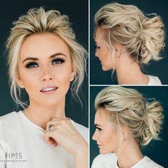 Wispy Hochsteckfrisur #Volume #wispy #Updo #Braut #Braut #Haar