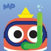 MarcoPolo Ocean is available through iTunes for $2.99 It is a great way to continue your exploration into the sea. This app has five puzzles kids can do in addition to the free play aspect of diving deep into the depths of the ocean. They can assemble a coral reef, herring, orca, boat or submarine.  You can also check out the Sago Mini Ocean Swimmer app, which has a simpler version of ocean exploration, but is free. 4/18/15