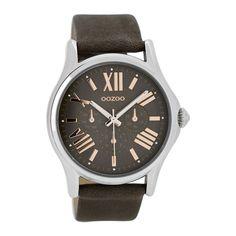 OOZOO Timepieces Browngrey/Rose horloge C7527