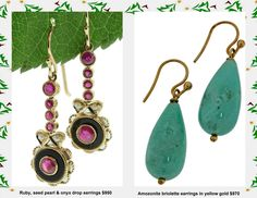 Coloured gem earrings in yellow gold | Brisbane Jewellery | Gifts | MONTASH Jewellery Design | www.montash.com.au