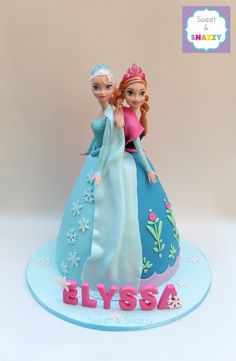 Frozen Cake - Elsa & Anna Doll Cake by Sweet & Snazzy https://www.facebook.com/sweetandsnazzy